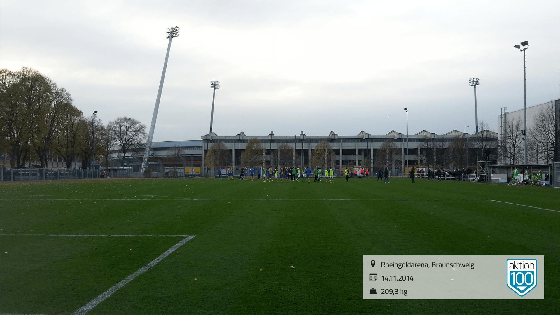 Flutlicht Rheingoldarena Braunschweig November 2014
