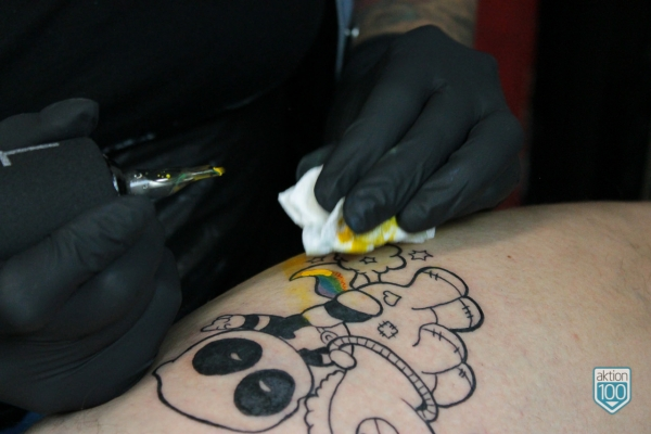 Tattoo Deadpool Unicorn Color Clinic Leipzig