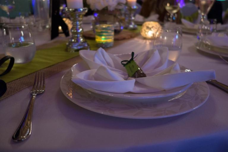 Tischdekoration Schmetterling oder Tortellini Serviette