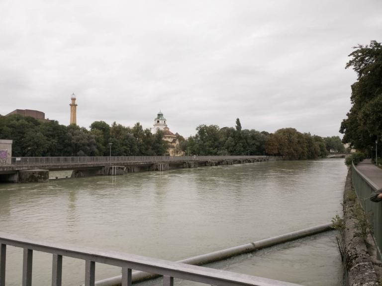 Blick auf die Isar, München