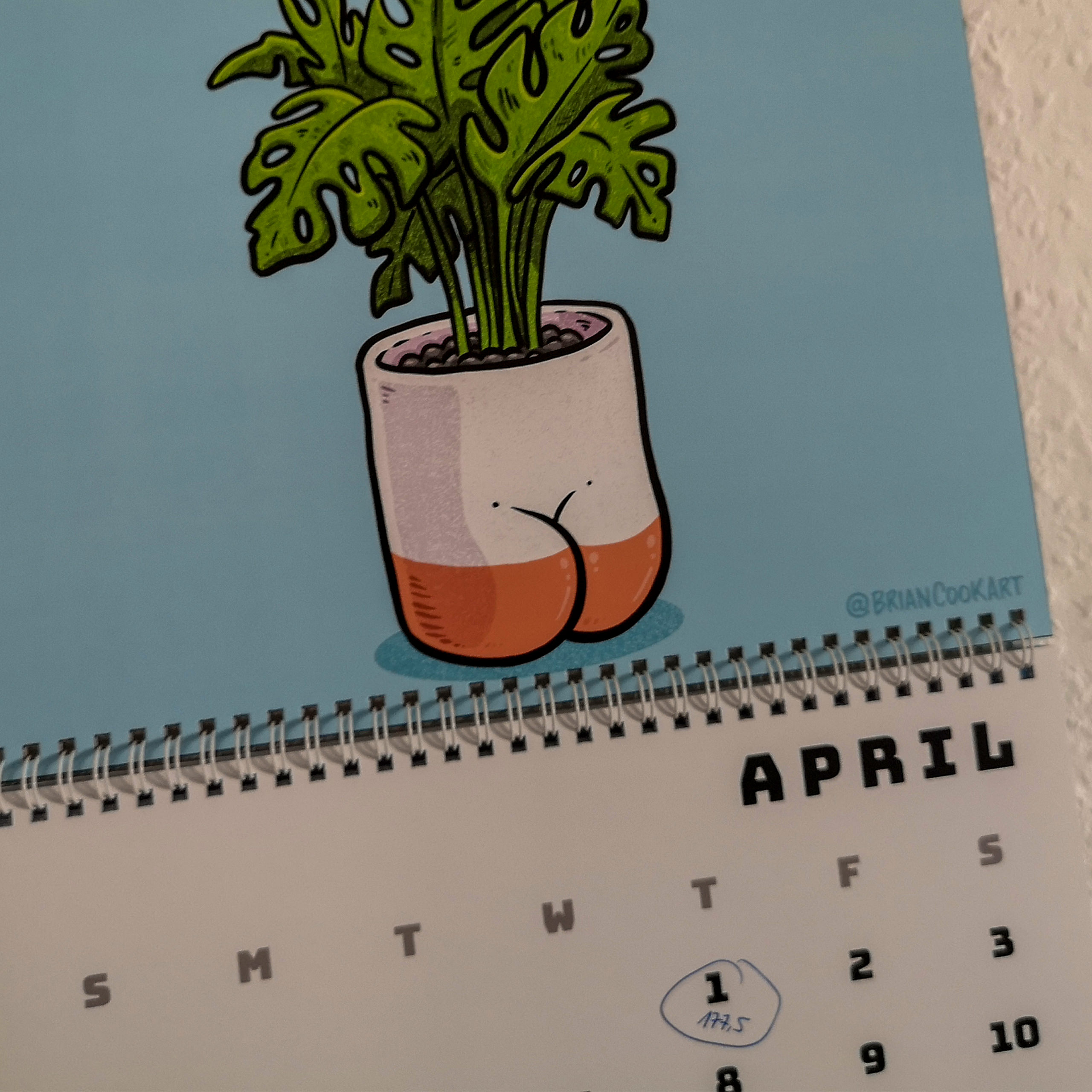 Kalender Butts on Things Brian Cook - Gewichtsupdate April 2021