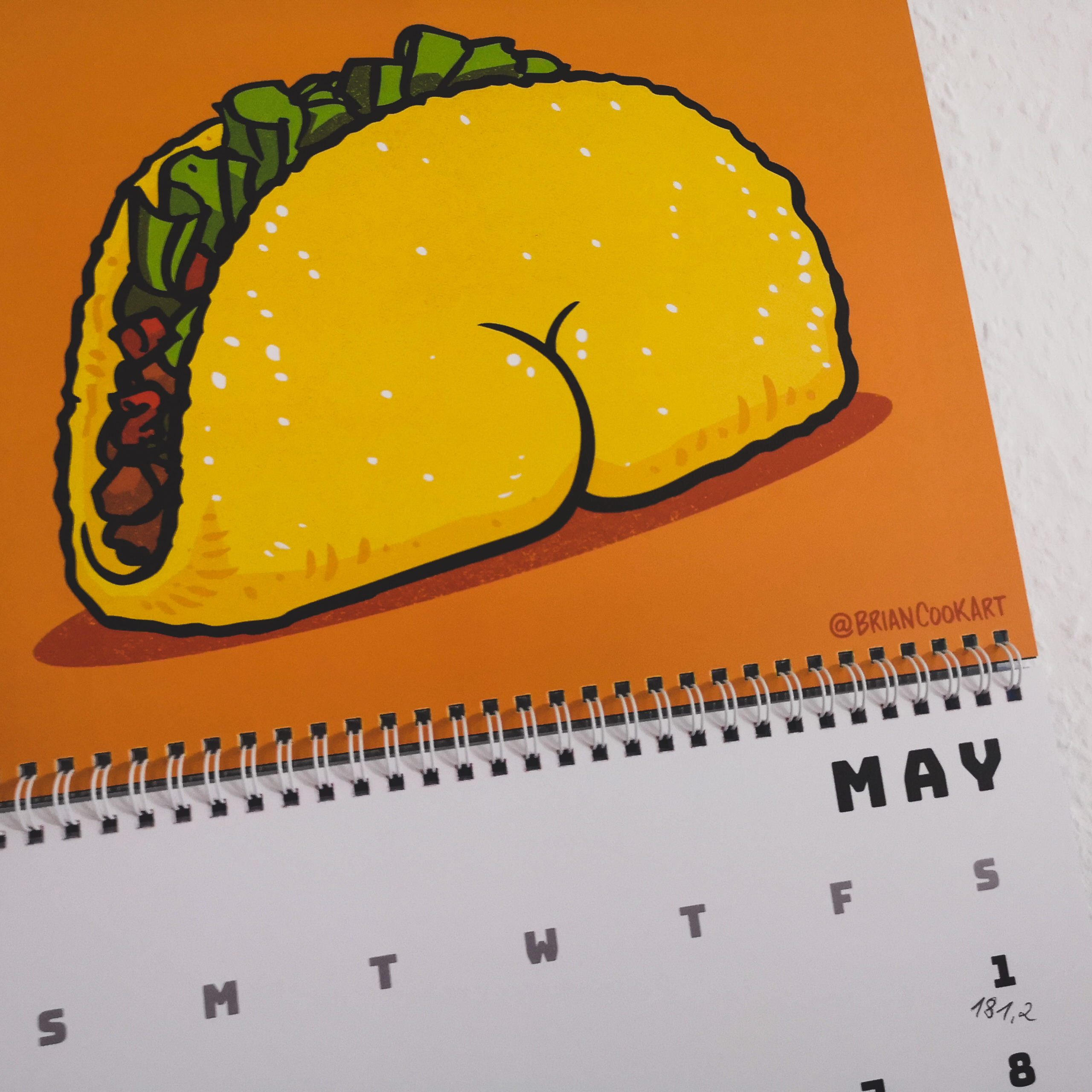 Kalender Butts on Things Brian Cook - Gewichtsupdate Mai 2021