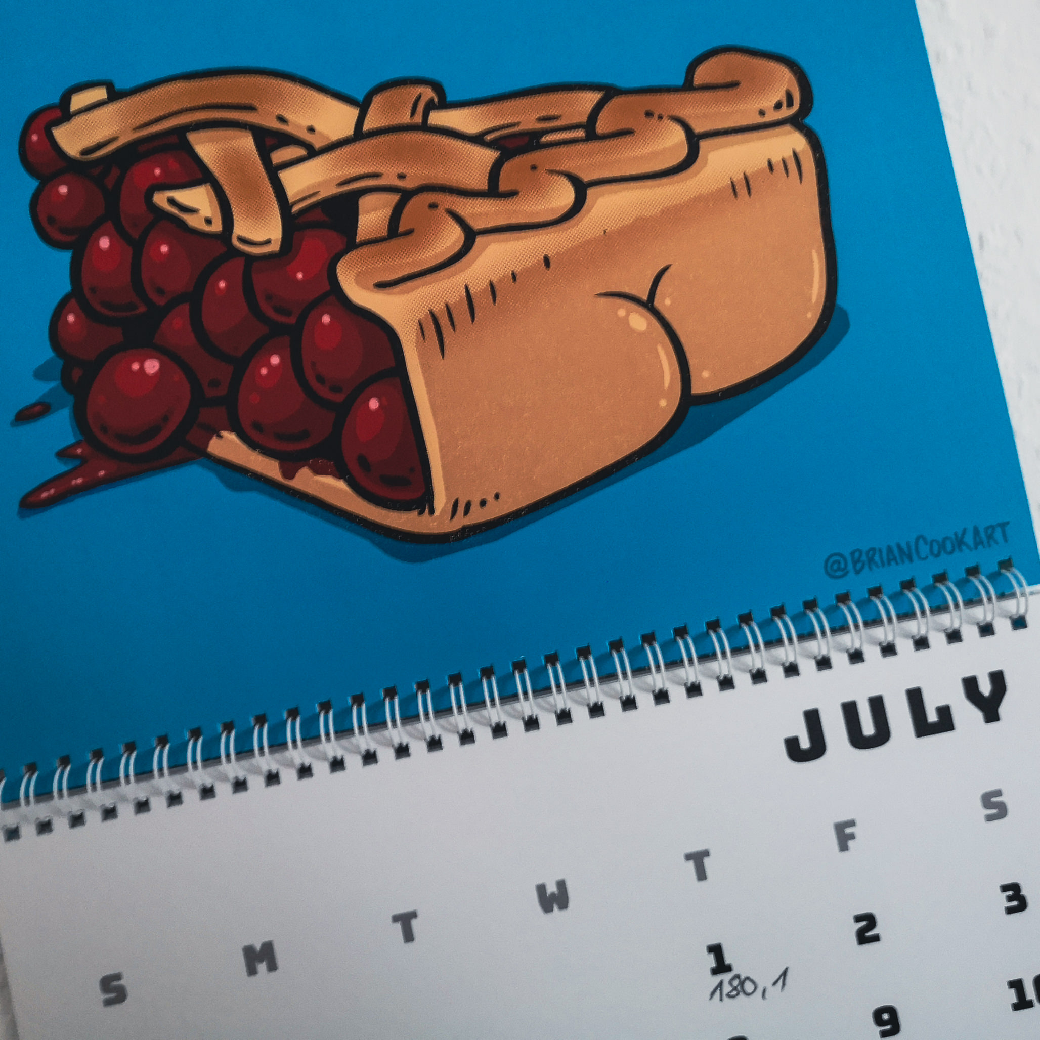 Kalender Butts on Things Brian Cook - Gewichtsupdate Juli 2021