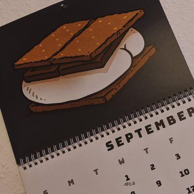 Kalender Butts on Things Brian Cook - Gewichtsupdate September 2021
